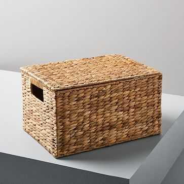 Twist Weave Baskets, Medium Rectangle, Natural - West Elm