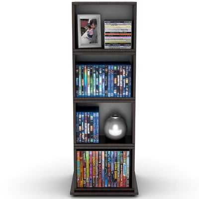 Rotating Multimedia Cube Storage Tower - Wayfair