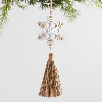 Metal and Jute Snowflake Ornaments Set of 3 by World Market - World Market/Cost Plus