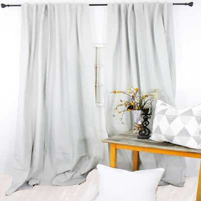 American Colors Brand 96 in. L Mist Grey Curtain Panel, Gray - Home Depot