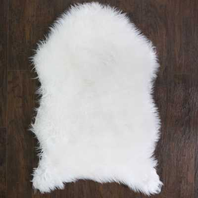 Fluffy Faux Sheepskin Fur Rug, Chair Throw 3' x 2' Sweet Home Collection: White - eBay