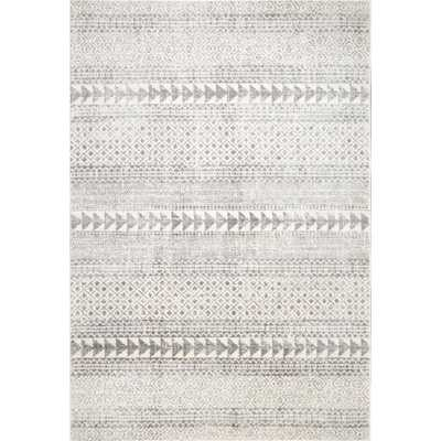 Lily Vintage Aztec Gray 8 ft. x 10 ft. Area Rug - Home Depot