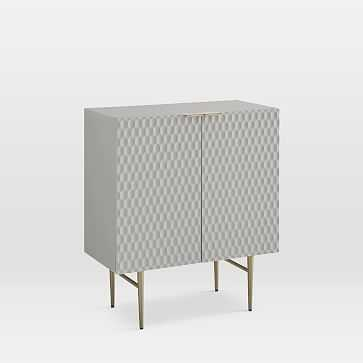 Audrey Small Cabinet, Mist Gray - West Elm
