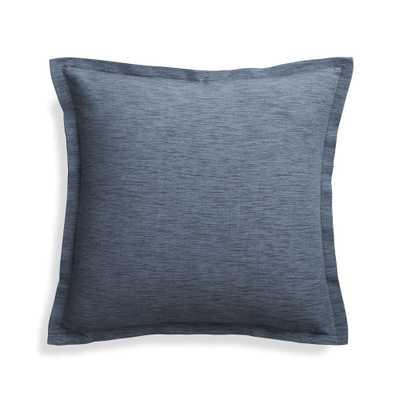 "Linden Indigo 18"" Pillow Cover - Crate and Barrel"