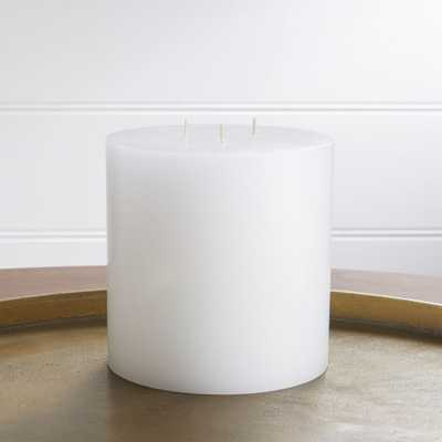 """6""""x6"""" White Pillar Candle - Crate and Barrel"""