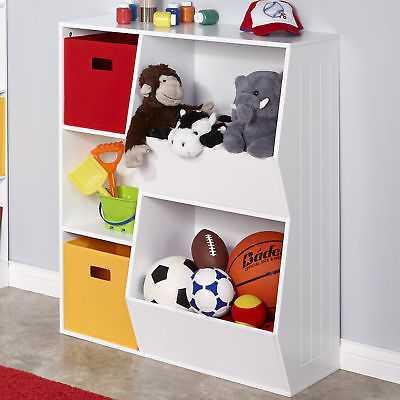 RiverRidge Home RiverRidge 3-Cubby, 2-Veggie Bin Toy Organizer: White - eBay