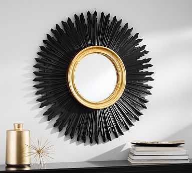 Louis Sunburst Mirror, Black/Gold - Pottery Barn