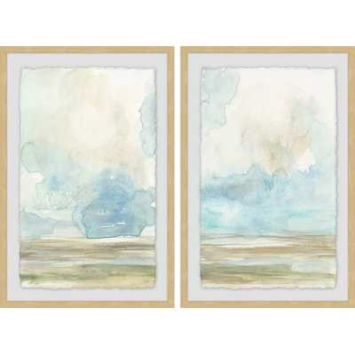 'Pale Sunset Diptych' 2 Piece Framed Print Set - Wayfair
