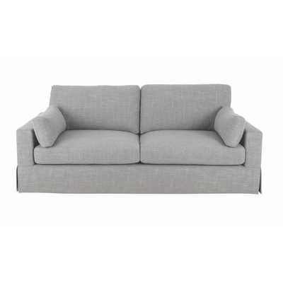 Addilyn Linen Smoke (Grey) Sofa - Home Depot