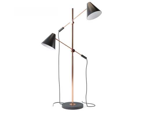 Kennedy Floor Lamp - Matte Black - Rove Concepts
