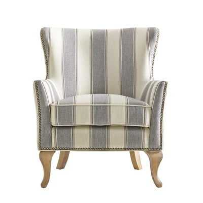 Zubair Armchair, Gray Striped - Wayfair