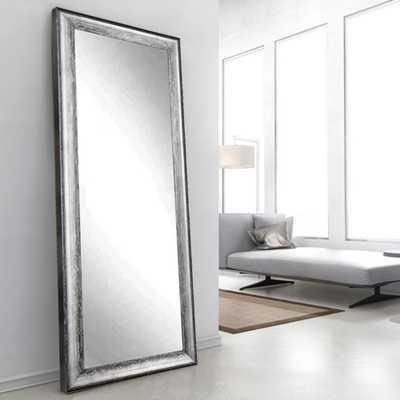 Brandtworks Midnight Silver Decorative Floor Mirror - Home Depot