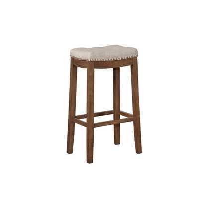 Linon Home Decor Claridge 30 in. Gray and Rustic Backless Bar Stool, Gray/Rustic Finish - Home Depot
