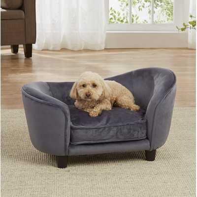 Connie Ultra Plush Snuggle Dog Sofa with Cushion - Wayfair