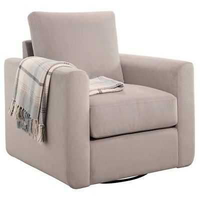 Abbyson Living Anthony Swivel Glider Chair in Dove Gray - eBay