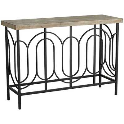 """Deny 45 1/2"""" Wide Wood and Metal Console Table - Style # 36X03 - Lamps Plus"""