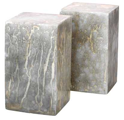 Slab Rectangle Bookends in Silver and Gold (set of 2) - Jamie Young