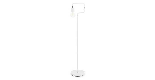 Serpent White Floor Lamp - Article