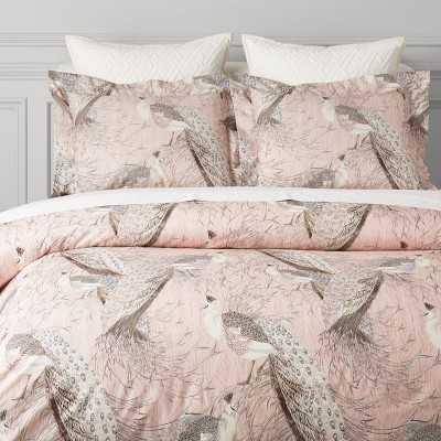 Jaipur Printed Organic Bedding, Full/Queen, Blush - Williams Sonoma