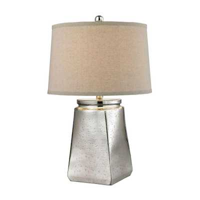Titan Lighting Tapered Square 25 in. Silver Mercury Table Lamp - Home Depot