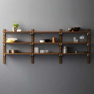 """Walnut Modular Triple Shelf 39.5"""""" - CB2"