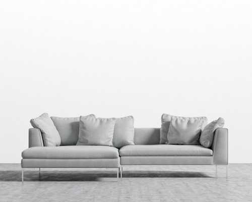 Hugo Sectional - Arctic Grey Right-hand-facing Matte Black - Hugo - Rove Concepts