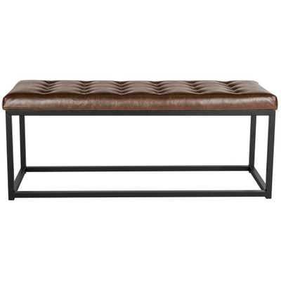 Reynlds Brown Bench - Home Depot