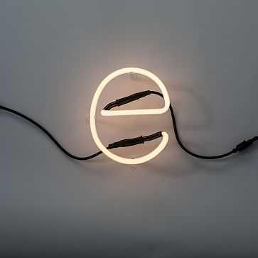 Seletti Neon Art Letters, E - West Elm