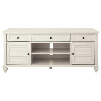 Hamilton 26 in. Polar White TV Stand - Home Depot