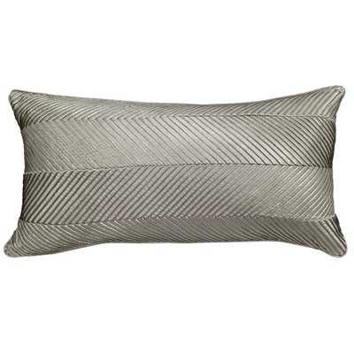 Amandes Chevron Cord Lumbar Pillow - Birch Lane