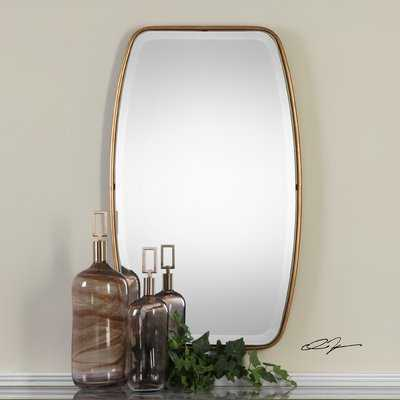 Duke Rectangle Gold Metal Wall Mirror - Wayfair