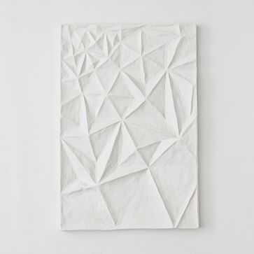 Paper Mache Geo Panel Wall Art, Panel III - West Elm