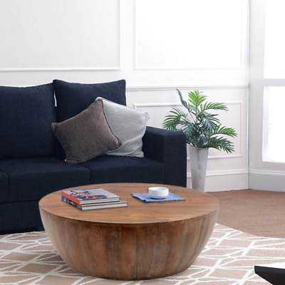 The Urban Port Coffee Table In Round Shape With Distressed Finish - eBay