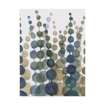 'Pompom Botanical II' Acrylic Painting Print on Wrapped Canvas - Wayfair