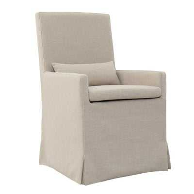 Hoang Arm Dining Upholstered Dining Chair with caster - Wayfair