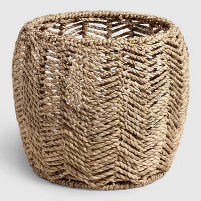 Natural Hyacinth Open Weave Chevron Cassidy Basket by World Market - World Market/Cost Plus