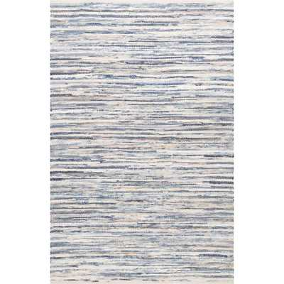 Maile Blue 7 ft. 6 in. x 9 ft. 6 in. Area Rug - Home Depot