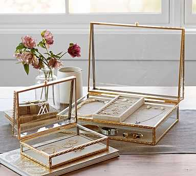 Antique Gold Jewelry Box, Large - Pottery Barn