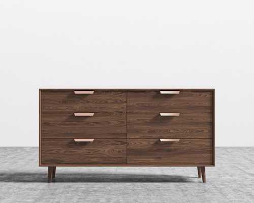 Asher Wide Dresser - Walnut Veneer - Rove Concepts