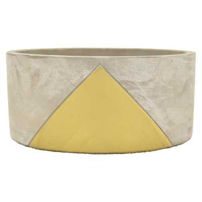 3.5 in. Planter - Grey/Gold - Home Depot