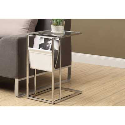 Chrome (Grey) Magazine End Table - Home Depot