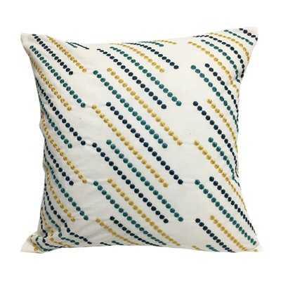 Constantine Embroidered Throw Pillow - Wayfair