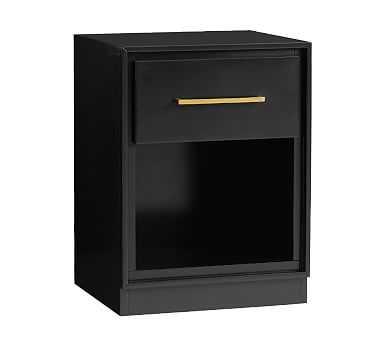 Art Deco Nightstand, High Gloss Black, Standard UPS Delivery - Pottery Barn Kids