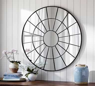 Brannan Round Metal Mirror - Pottery Barn