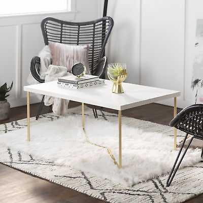 Orren Ellis Seguin Coffee Table: White - Gold - eBay