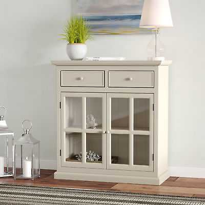 Highland Dunes Charters Towers 2 Door Accent Cabinet: Antique White - eBay