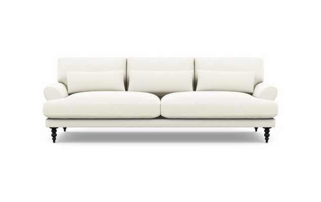 Maxwell Sofa with Ivory Fabric and Matte Black legs - Interior Define