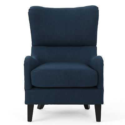 Latitude Run Wingback Chair: Navy Blue - eBay