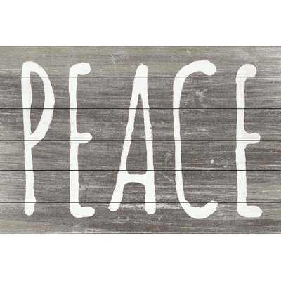 'Peace II' Textual Art on Wood - Birch Lane