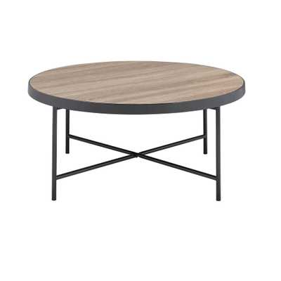 Bage Weathered Gray Oak Water Resistant Coffee Table - Home Depot
